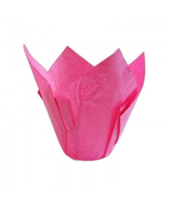 24 Cápsulas rosas para muffins