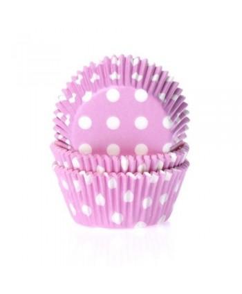 50 Cápsulas polka dot pink-...