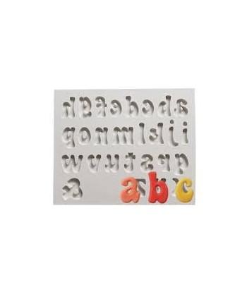 Molde silicona de letras...