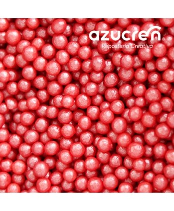 Perlas de azúcar roja 4mm...