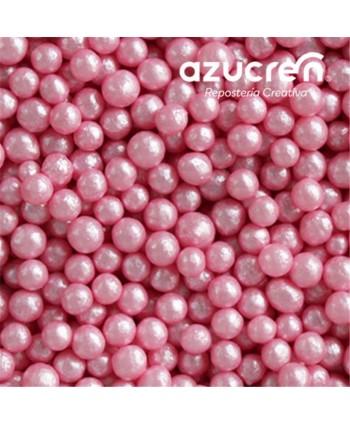 Perlas de azúcar rosa 4mm...