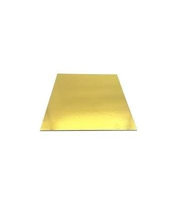 Base cuadrada oro 18cm x 1mm
