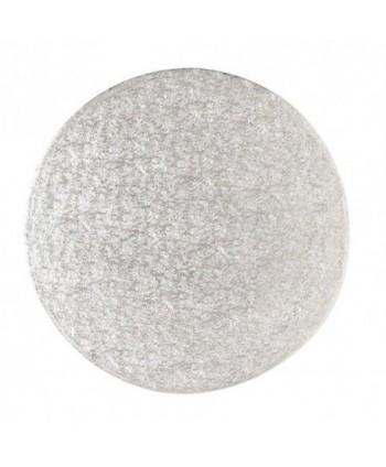 Base redonda rígida plata...