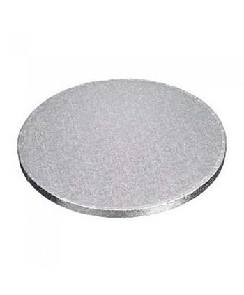 Base redonda gruesa plata...