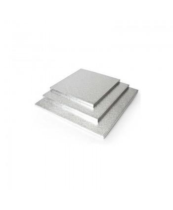 Base cuadrada gruesa plata...