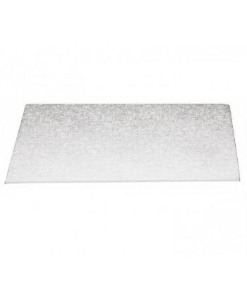 Base rectangular fina plata...