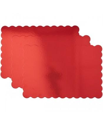 Base rectangular roja con...
