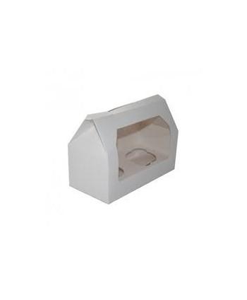 Caja 2 cupcakes blanca