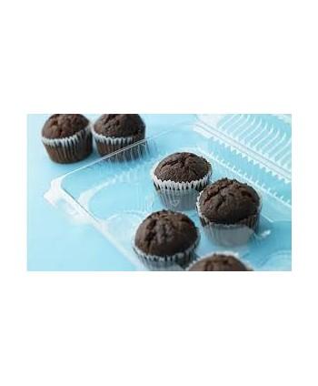 6 cupcakes envase transparente