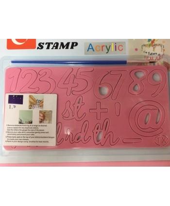 Marcador números y símbolos