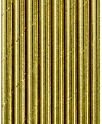 20 pajitas foil dorado de...