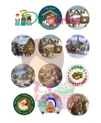 Imágenes Navidad redondas...