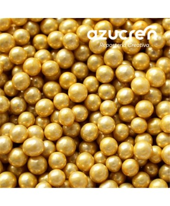 Perlas de azúcar oro...
