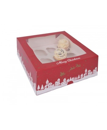 Caja 12 cupcakes Merry...
