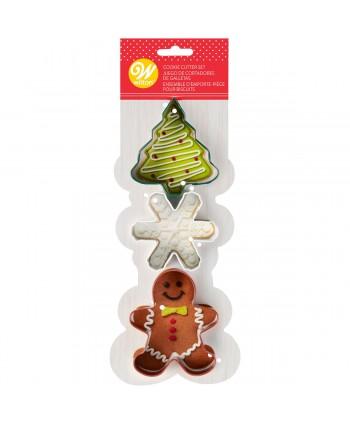 3 cortadores navidad christmas
