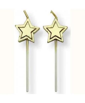Velas  Estrella oro set 8...