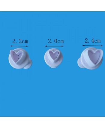 Set 3 corazones cortadores...