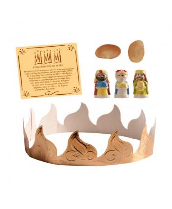 Corona de cartón para roscón