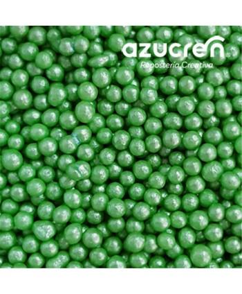 Perlas de azúcar verde  4mm...