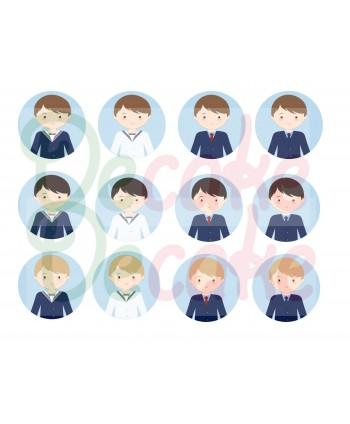 12 Niños de comunión 6,4 cm...