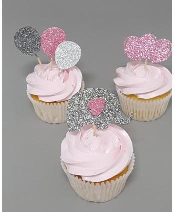 12 Mini topper cupcakes...