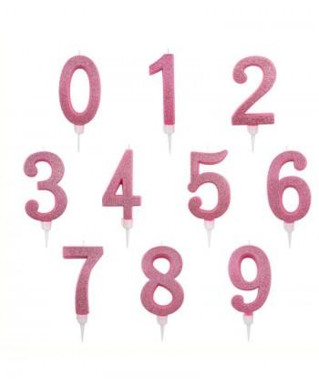 Vela 7 purpurina rosa