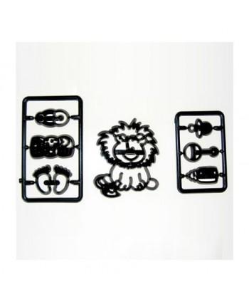 Cortador patchwork león y...