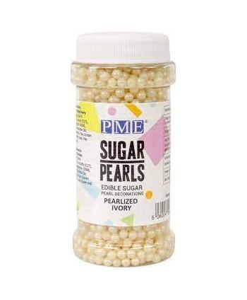 Perlas de azúcar marfil 4mm...