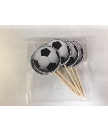 6 topper cupcakes balón de...