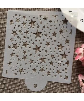Stencil modelo estrellas -...