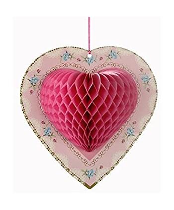 3 corazones de papel para...