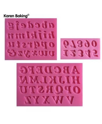3 Moldes silicona alfabeto...