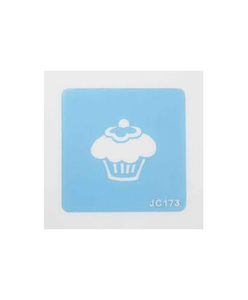 Stencil cupcake Culpitt
