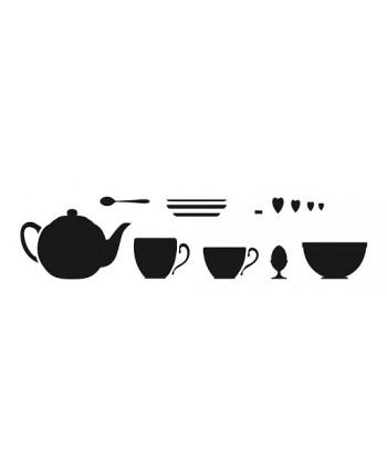 Stencil juego de té Artemio