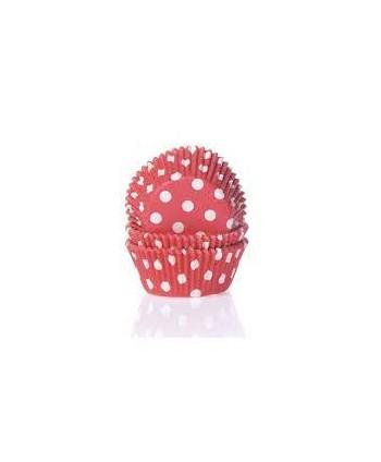 50 Cápsulas polka dot red-...
