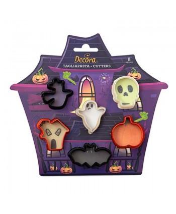 6 Mini cortadores halloween...