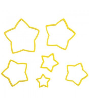 6 cortadores de estrella -...