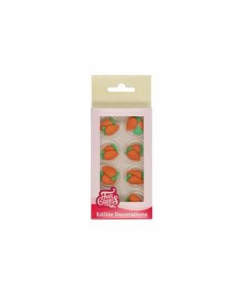 8 decoraciones zanahorias...