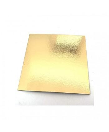 Disco cuadrado oro 20cm x 1mm