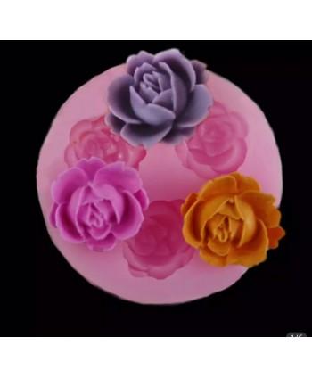 Molde silicona 3 rosas